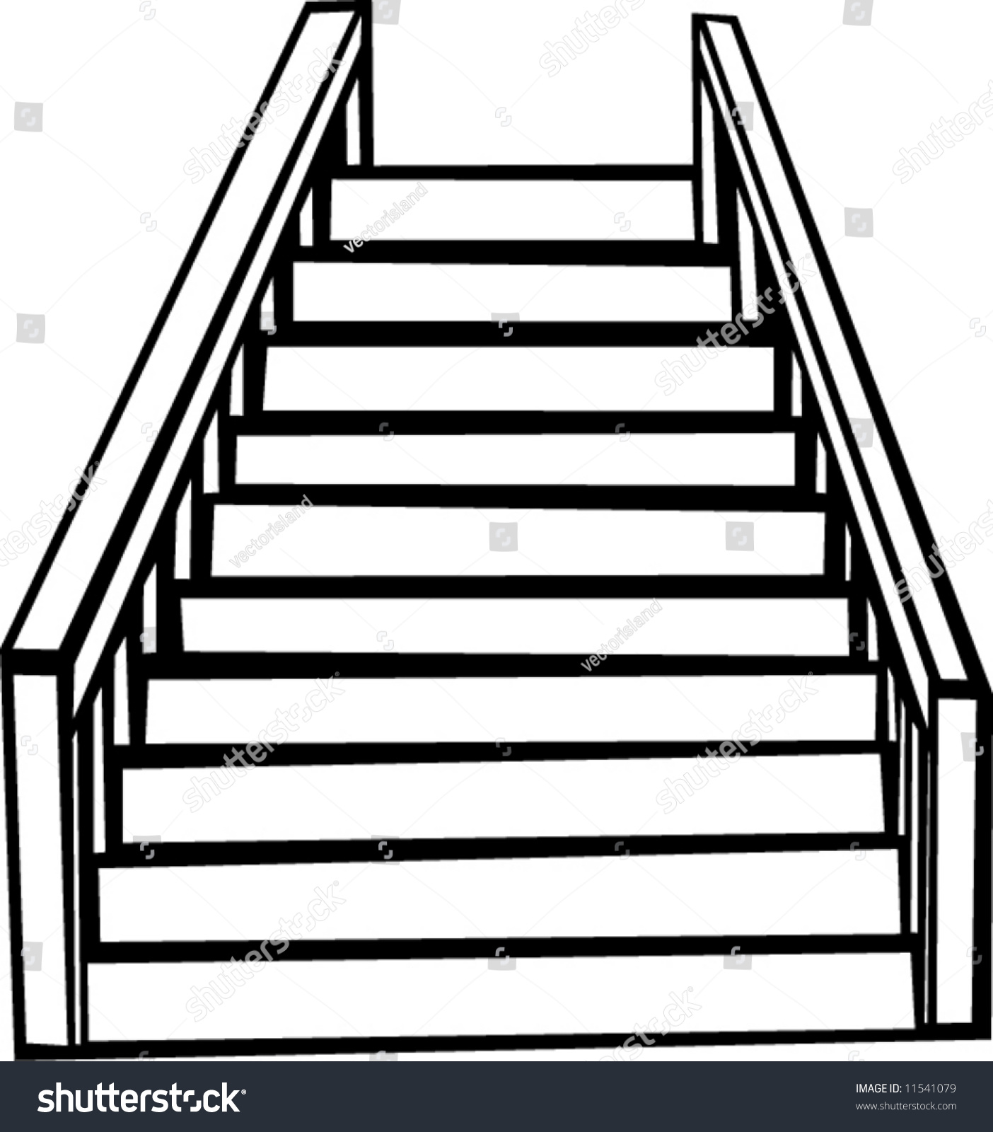 Stairs Stock Vector 11541079 Shutterstock