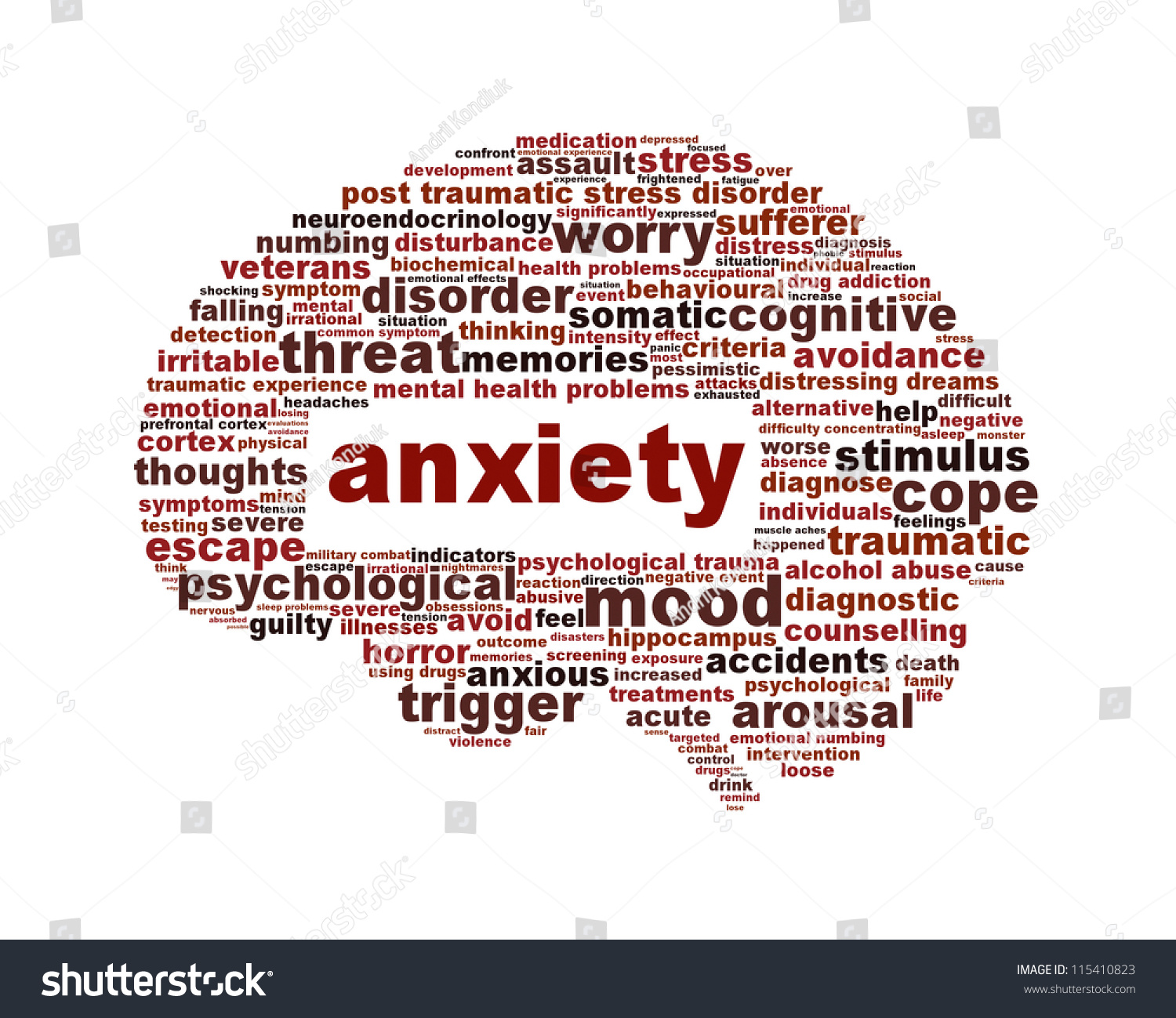 Anxiety Mental Health Symbol Isolated On Stock Illustration