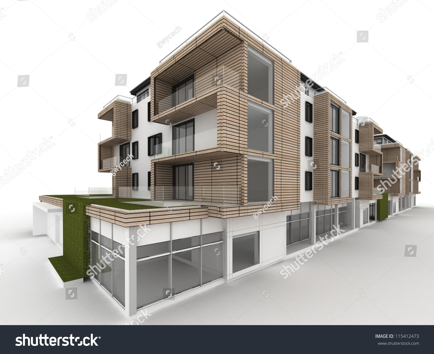 Architecture design visualization apartment building stock for Architecture and design