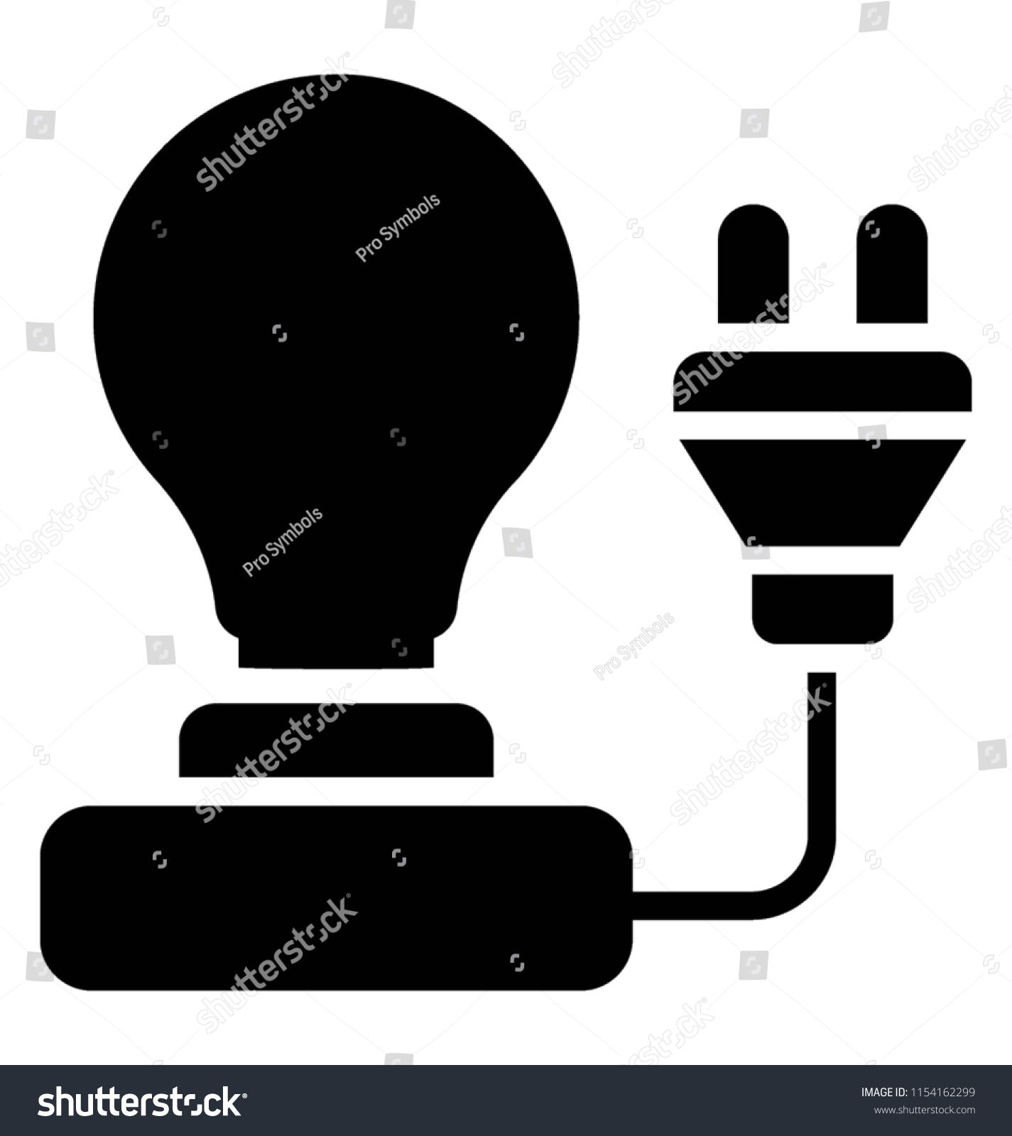 Light Bulb Electric Plug Representing Electricity Stock Vector All Electrical Appliances Including Bulbs Stereos And With