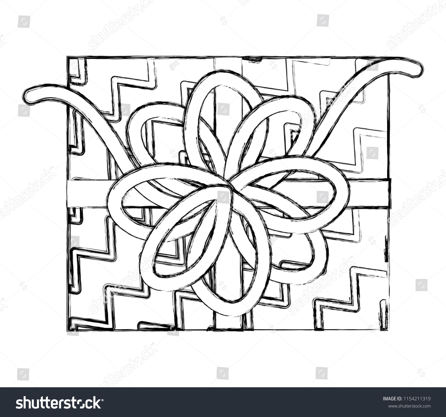 Top View Birthday Gift Box Bow Stock Vector Royalty Free