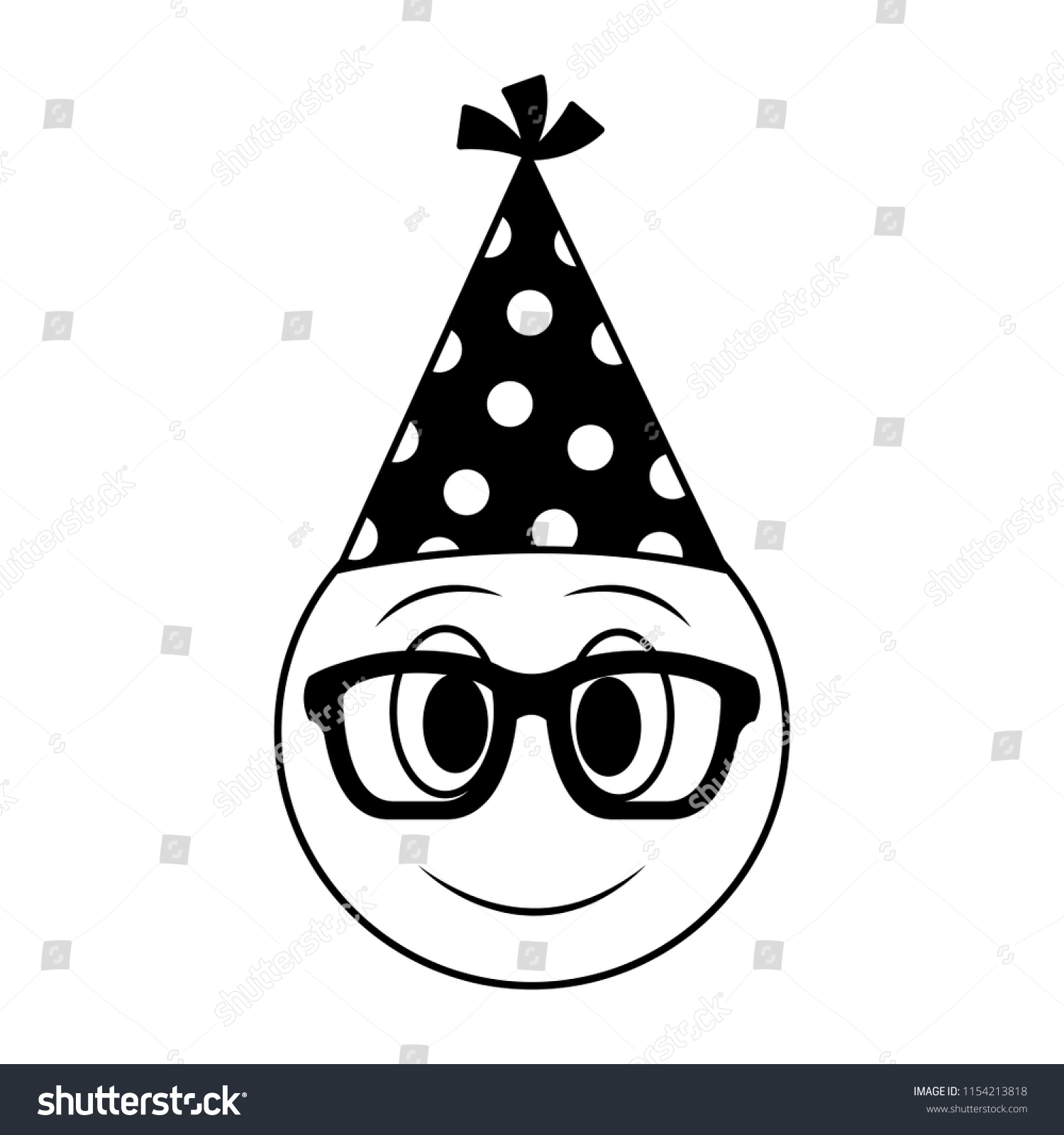 Clip Art Birthday Hat Clipart Black And White - Birthday Party Hat Outline  , Free Transparent Clipart - ClipartKey