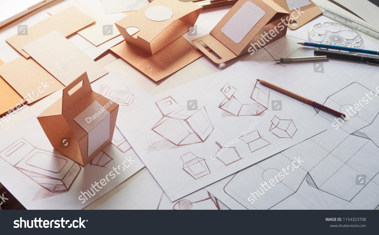 Designer Sketching Drawing Design Brown Craft Stock Photo Edit Now