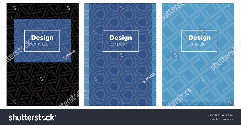 Light BLUE Vector Brochure Ui Ux Stock Vector (Royalty Free