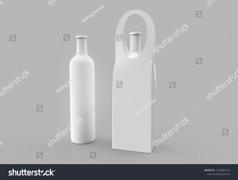 Blank Wine Bag Template Round Handle Stock Illustration 1154585212 ...