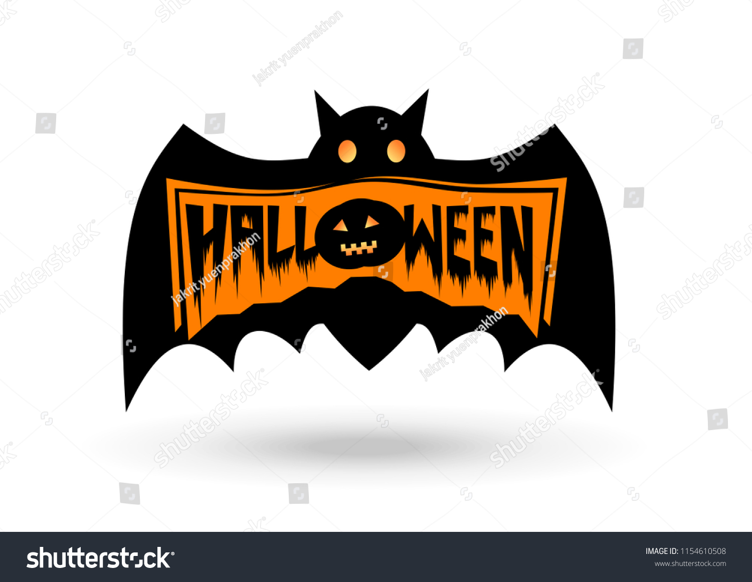 halloween logo design vector stock vector (royalty free) 1154610508