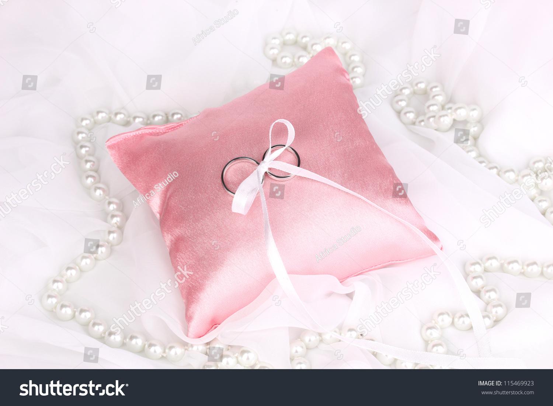 Wedding Rings On Satin Pillow On Stock Photo 115469923 - Shutterstock