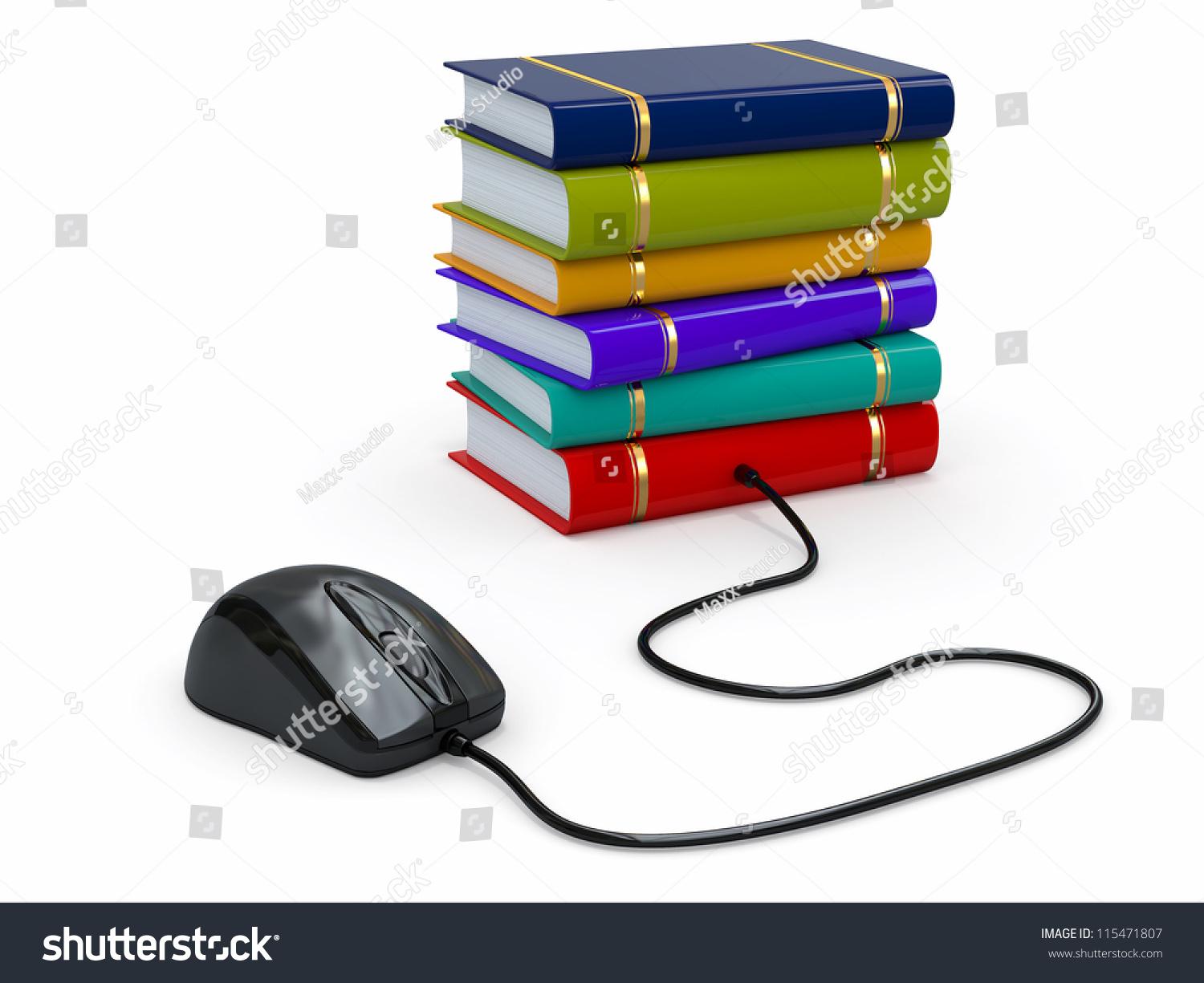 Internet Education Books Computer Mouse 3 D Stock Illustration Diagram Part In This And 3d