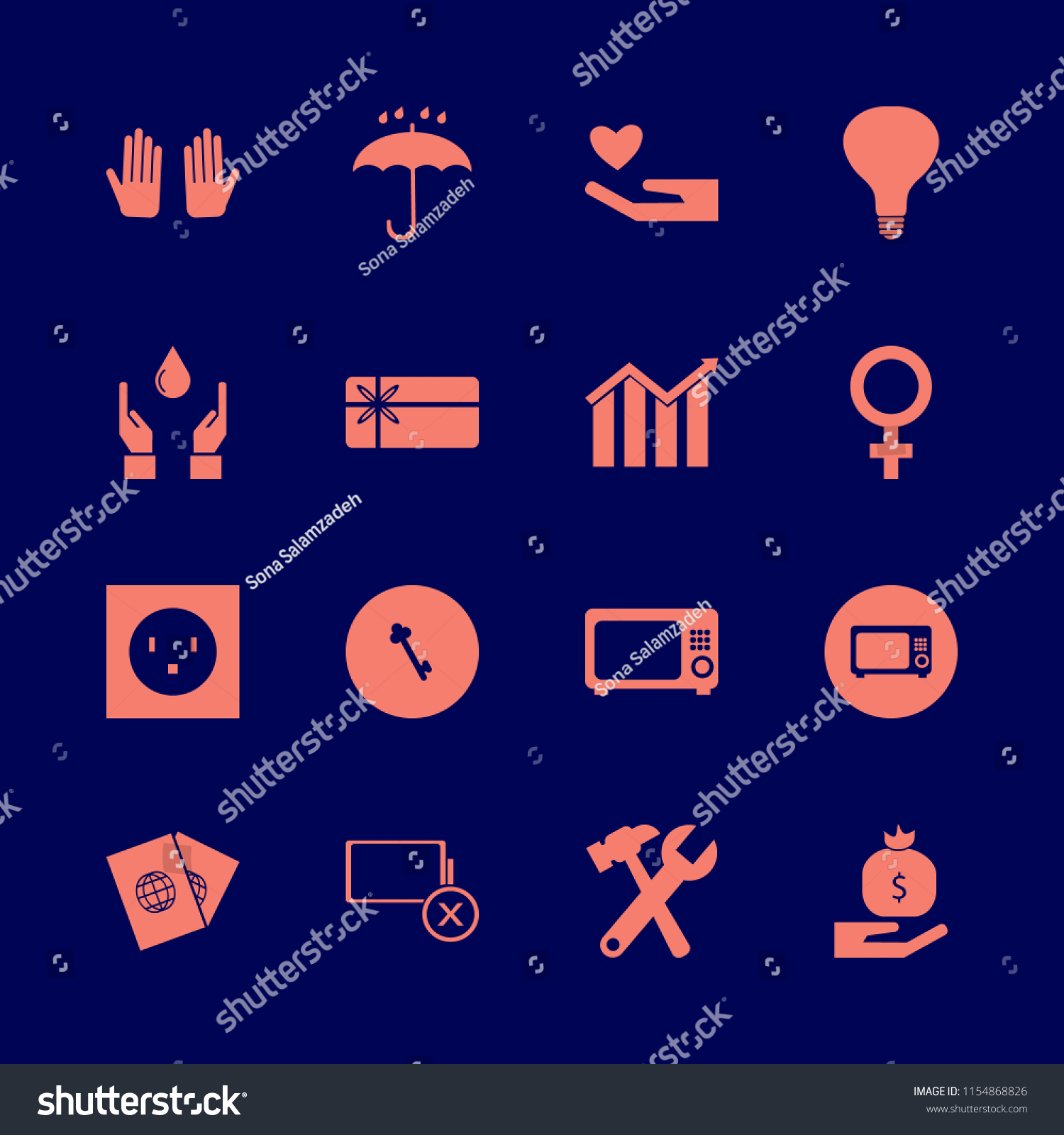Hand Vector Icons Set Hands Drop Stock Vector (Royalty Free