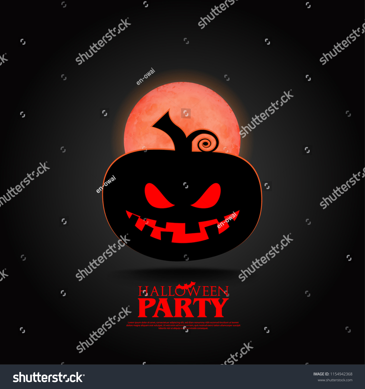 cute pumpkin halloween layout cover minimalist creative stock vector