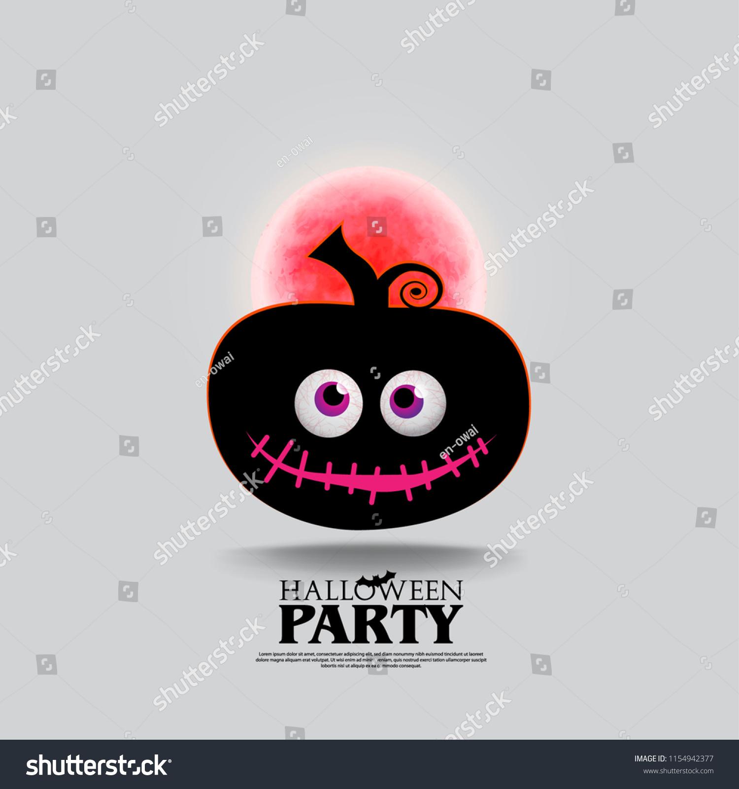 Halloween Creative Ads.Cute Pumpkin Halloween Layout Cover Minimalist Creative