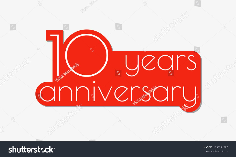 10 Years Anniversary Logo 10th Anniversary Stock Illustration ...