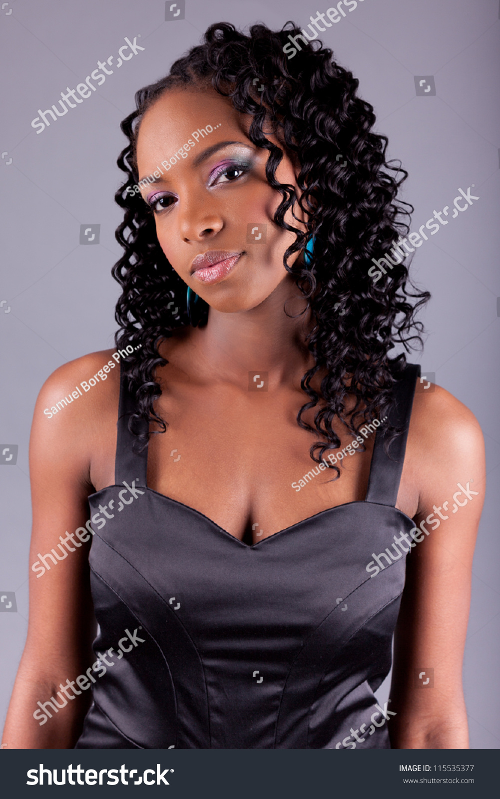 Young Beautiful African American Woman Posing Stock Photo