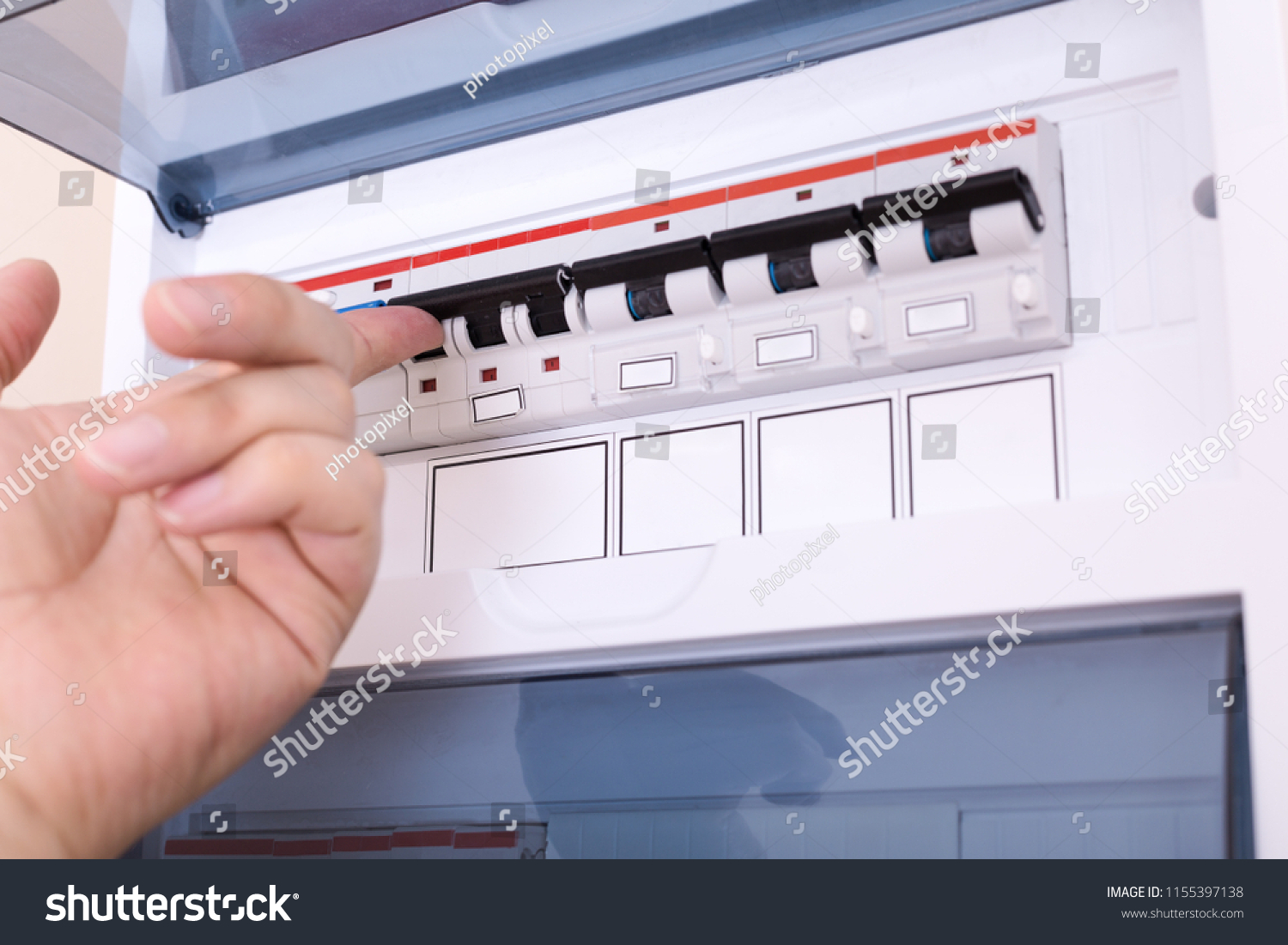 Admirable Rcd Circuit Breaker Board Fusebox Apartment Stock Photo Edit Now Wiring Cloud Hisonuggs Outletorg