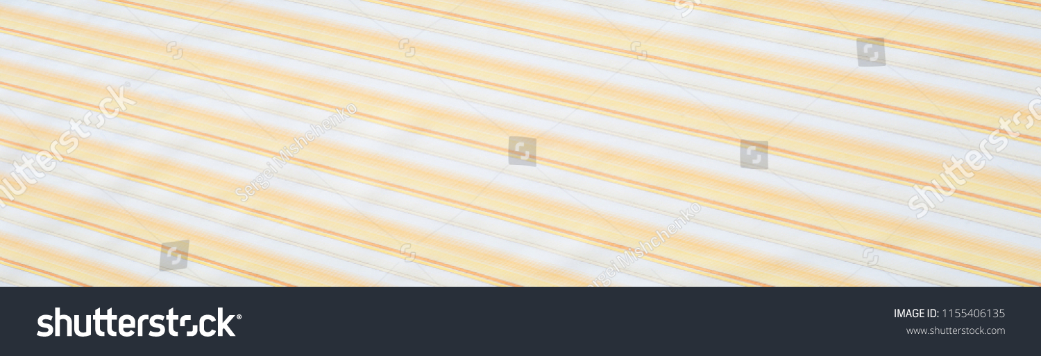 Cotton fabric texture, background, striped, with yellow stripes #1155406135