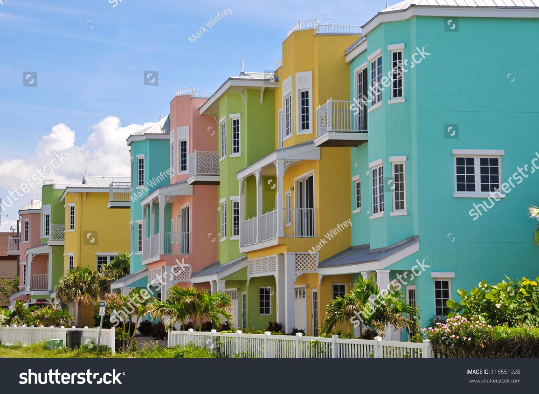stock-photo-colorful-beach-condominiums-