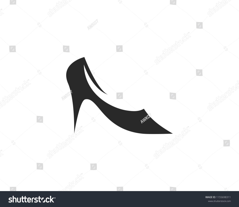 woman shoe high heel logo vector stock vector royalty free