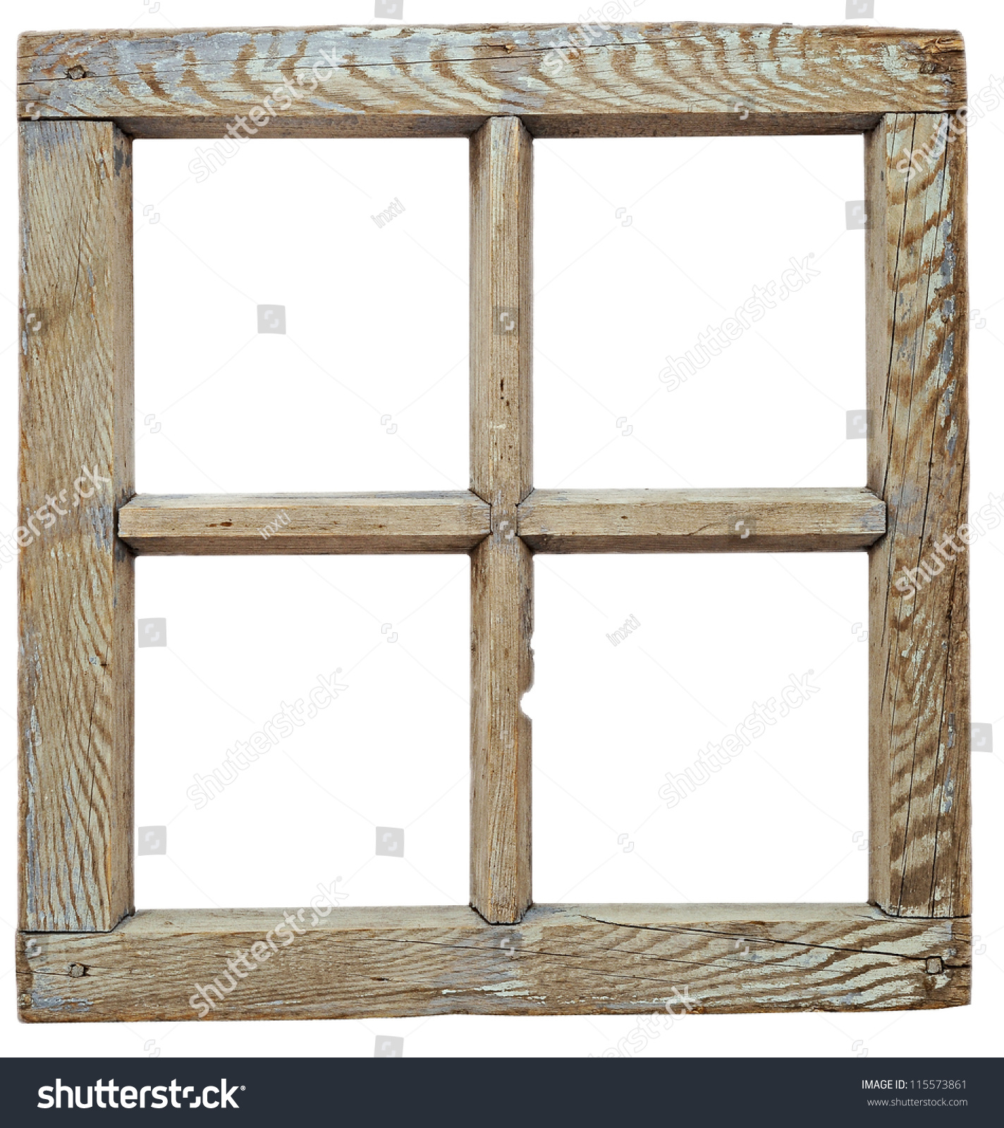 Wood Window Frames : Very old grunge wooden window frame stock photo