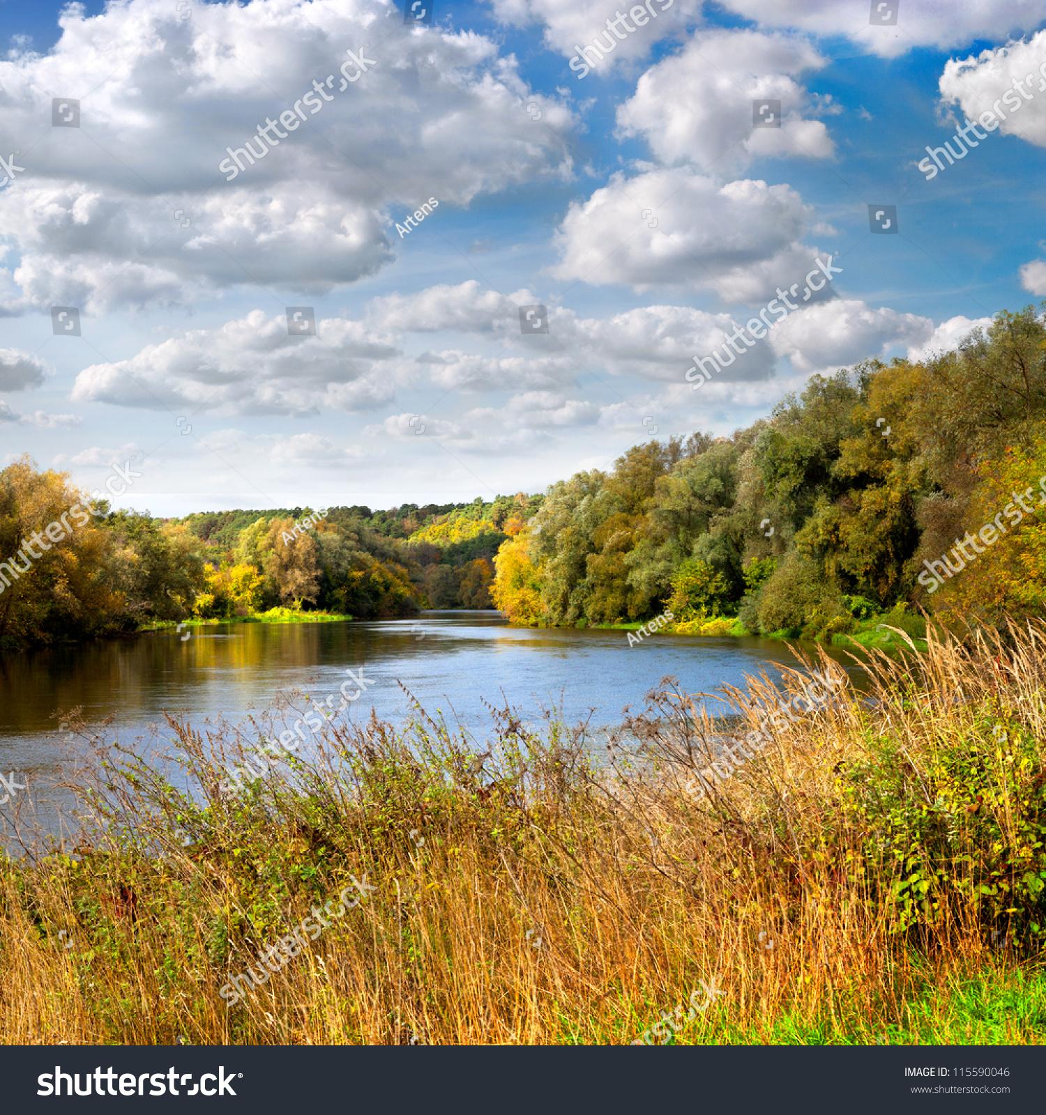 2560x1600 river grass cloudy - photo #15
