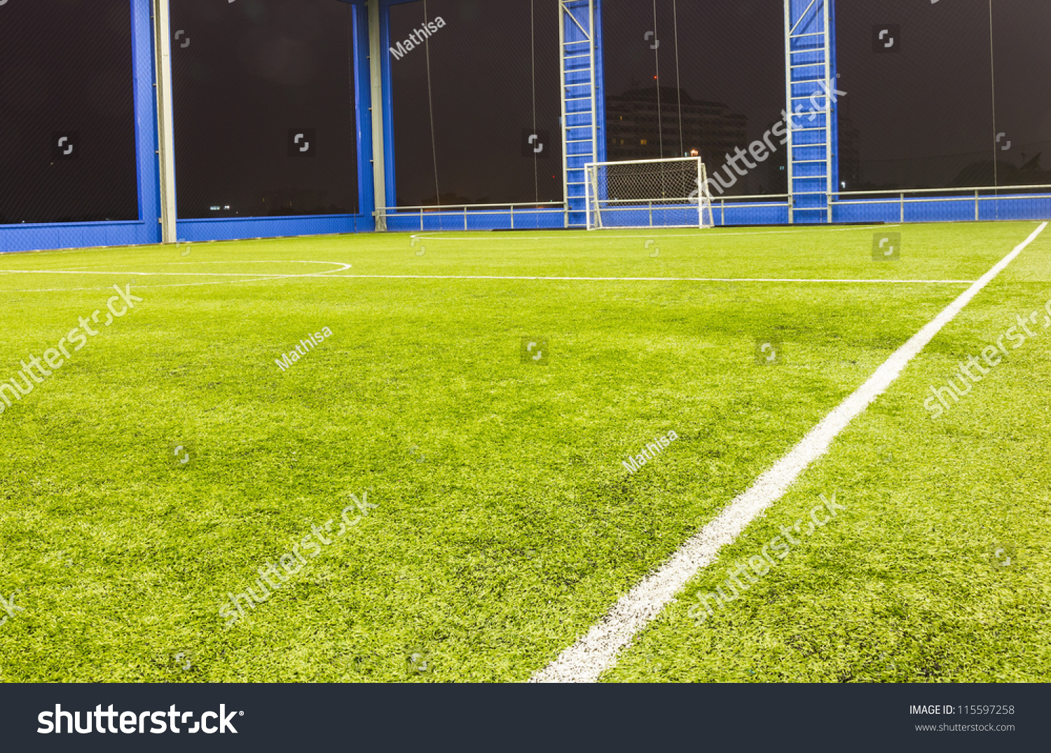 Indoor Football (soccer) Goal And Field