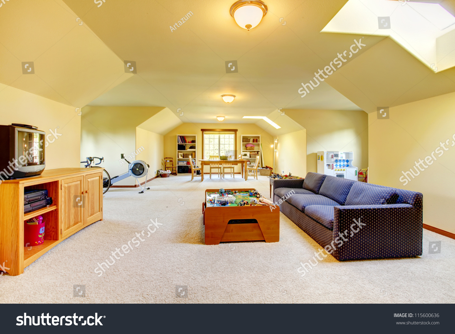 Large Play Room Tv Sport Games Stock Photo (Edit Now) 115600636 ...