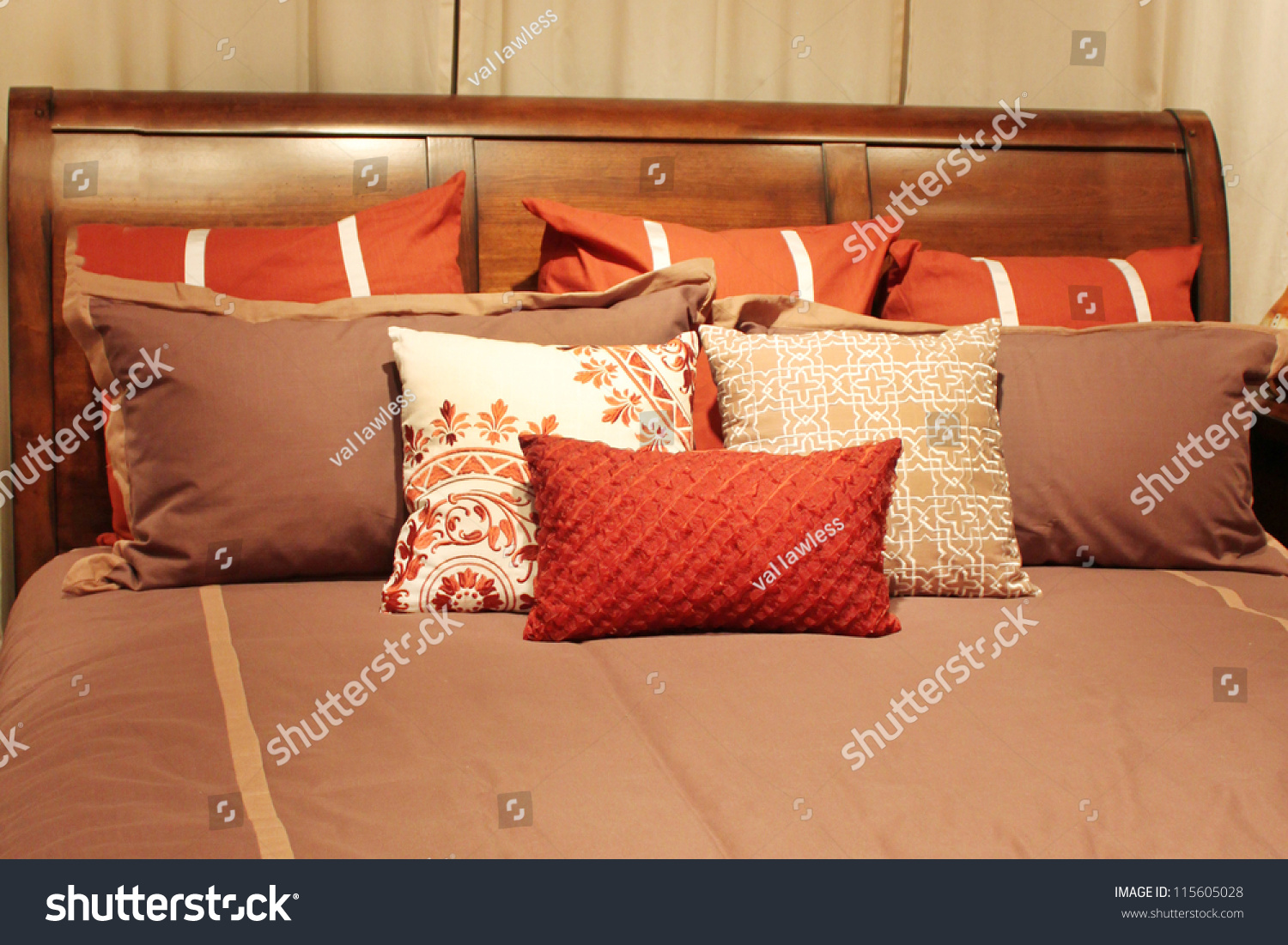 Pillows On Bed Stock Photo 115605028 - Shutterstock