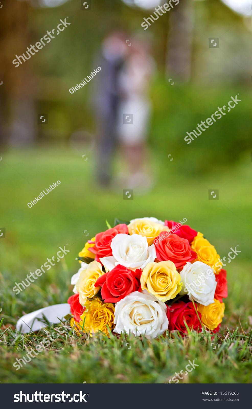 Wedding Flowers Wedding Bouquet Yellow White Stock Photo Edit Now