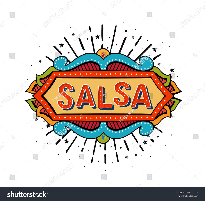 Salsa Vector Logotype Coloful Festive Frame Stock Vector Royalty Free 1156214731,Salon Interior Design Ideas