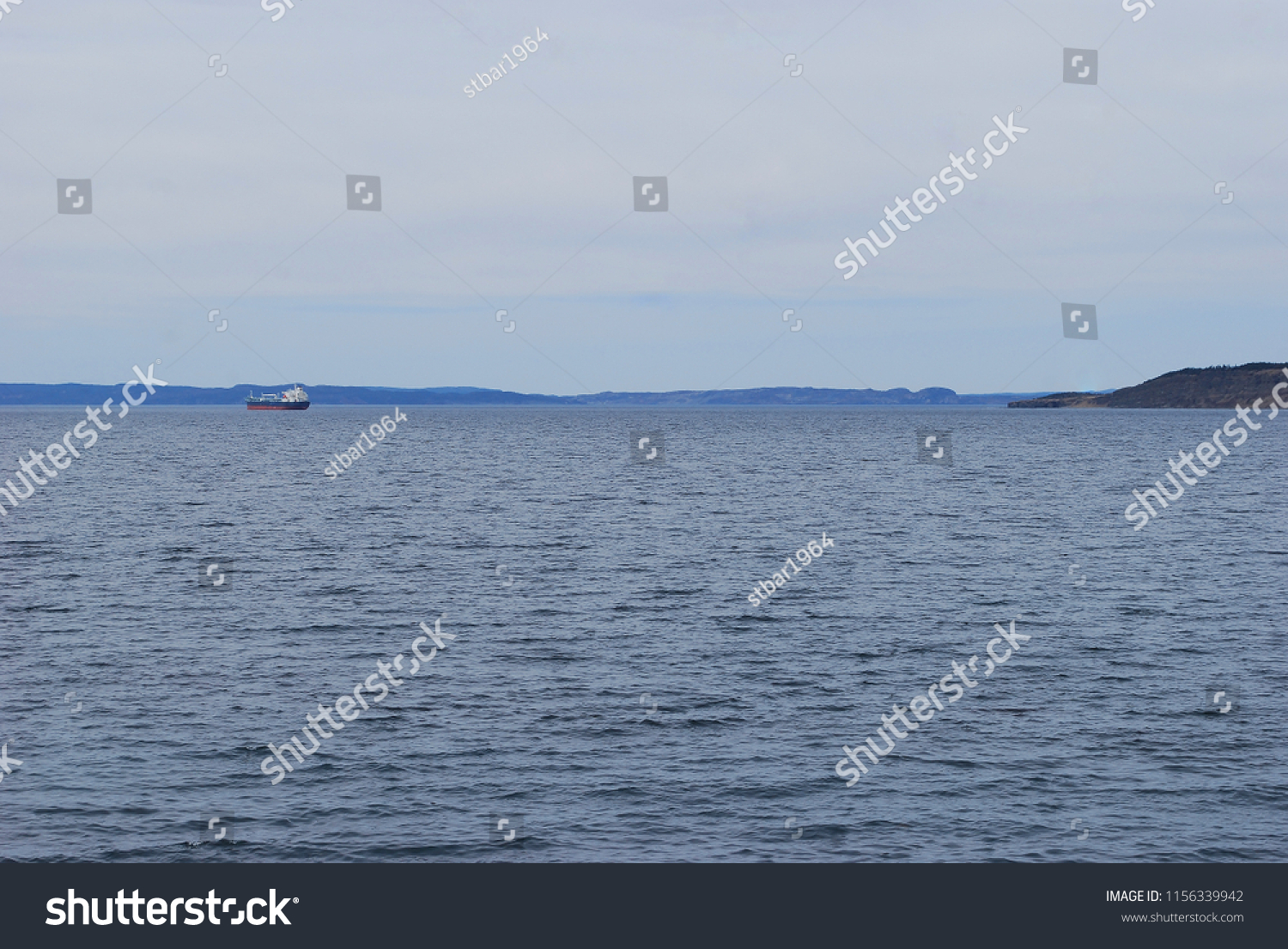 Ship Crossing Bay Conception Bay South Stock Photo Edit Now 1156339942