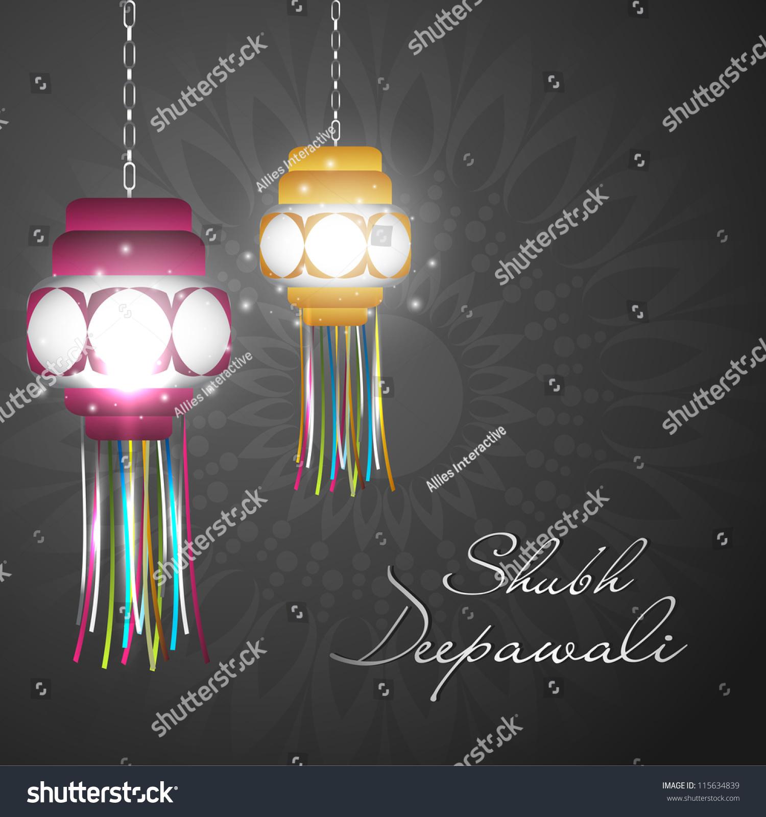 Hanging Lamp For Diwali Festival In India. Eps 10. Stock