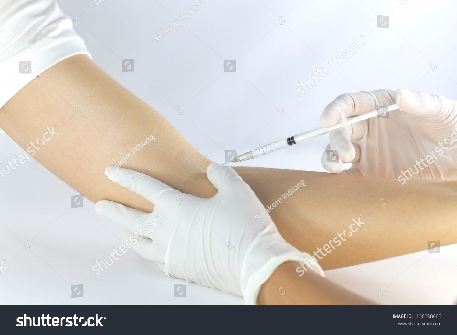 Injection Blood Vessels Arm Stock Photo Edit Now 1156398685