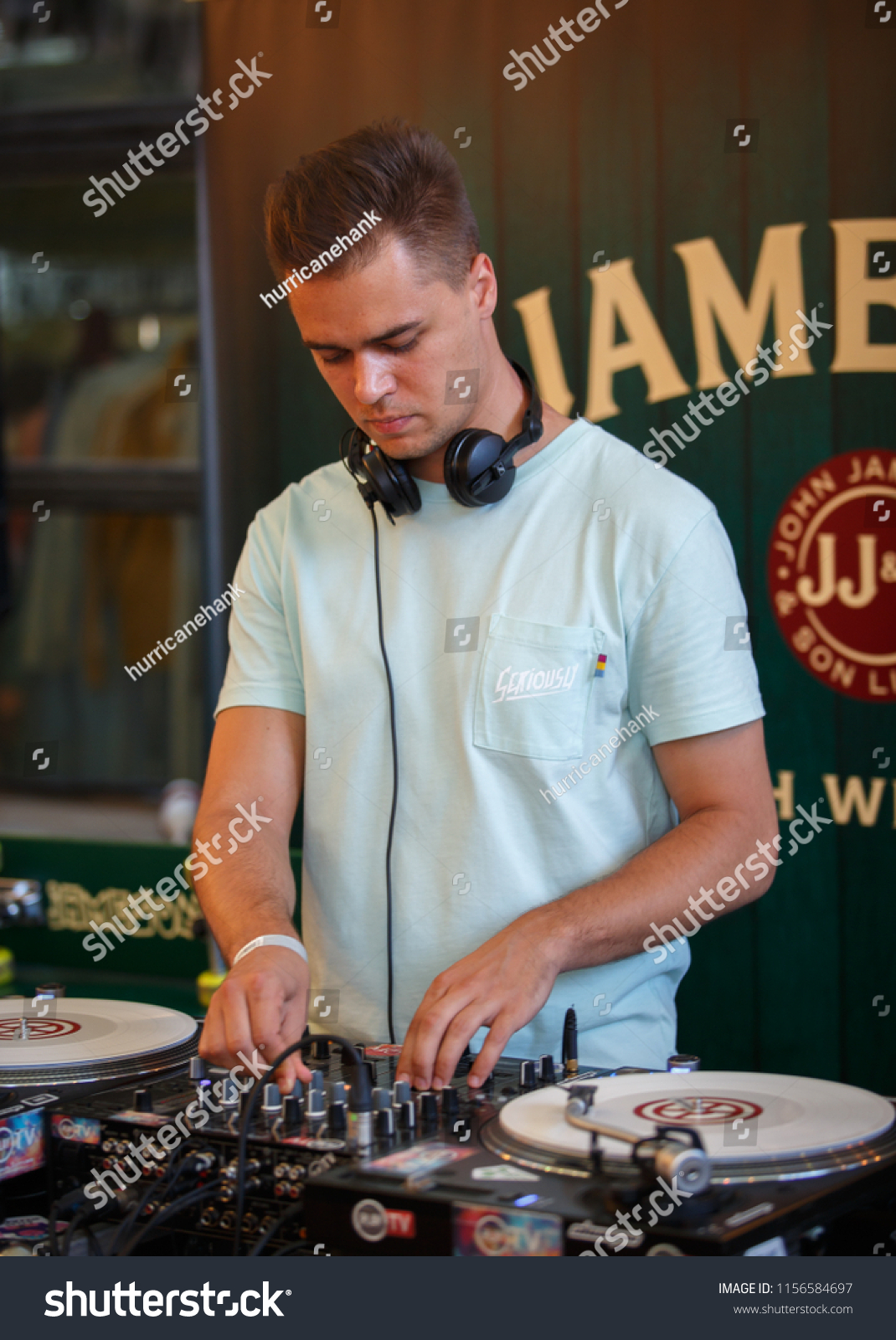 KIEV 11 AUGUST 2018 Young White Hip Hop Stock Photo (Edit