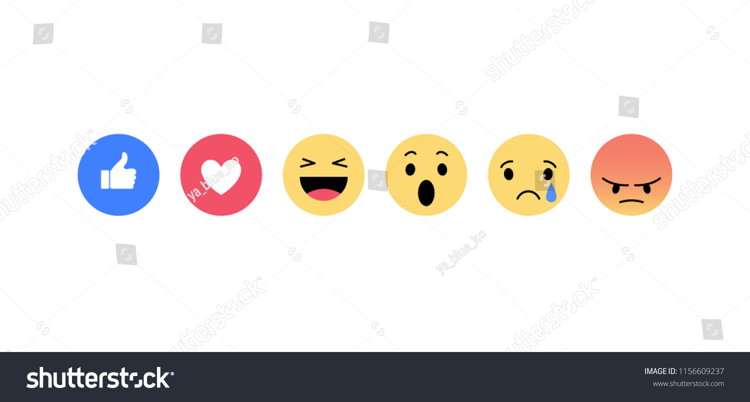 Emoji icons. Funny faces with different emotions. Isolated. Vector illustration. #1156609237
