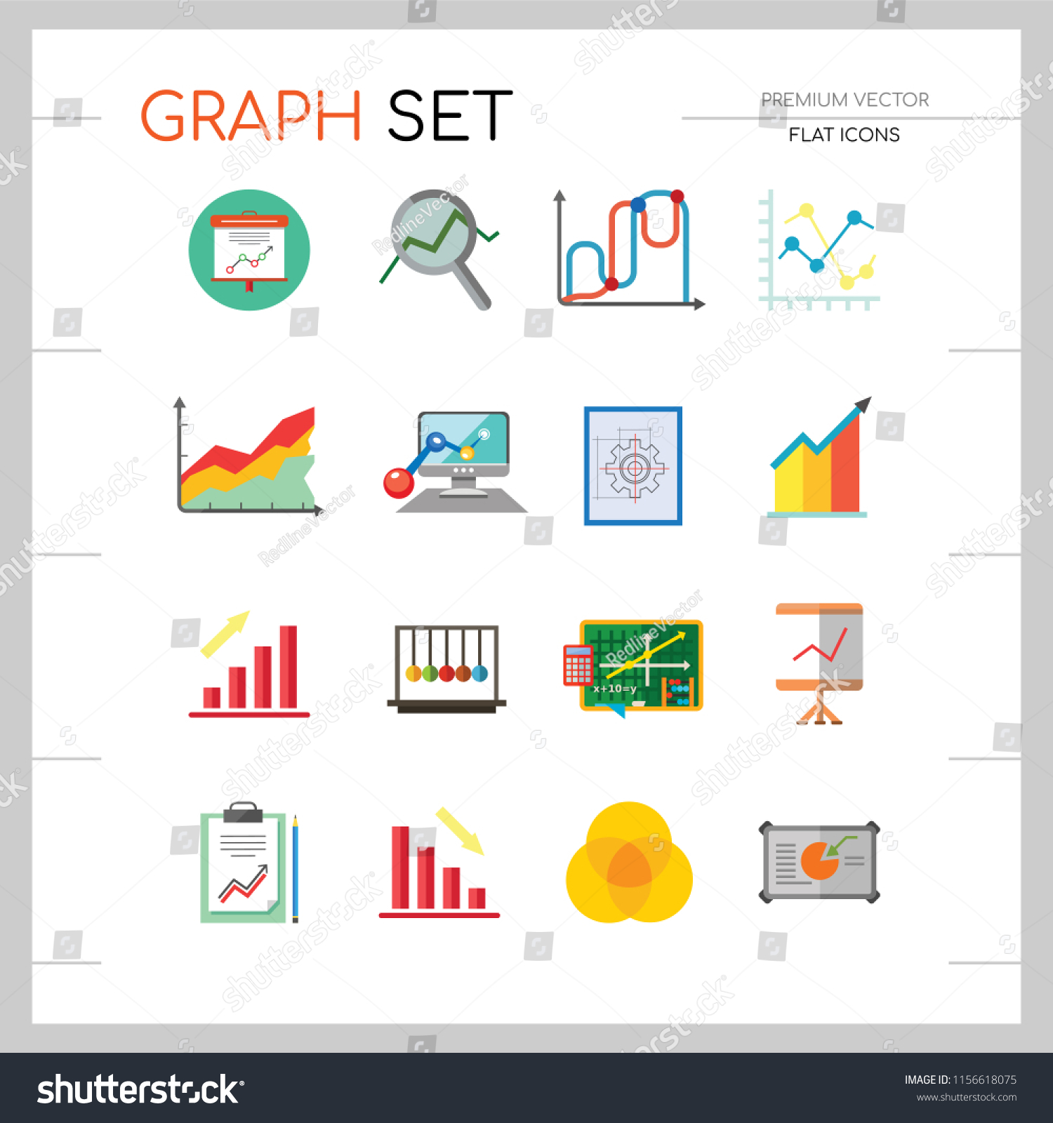 Cool Graph Icon Set Magnifier Graph Growing Stock Vector Royalty Free Wiring Digital Resources Jonipongeslowmaporg