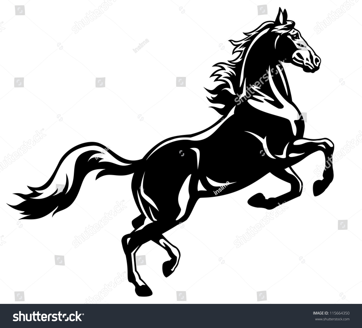 Horse vector clipart download for Clipart mare