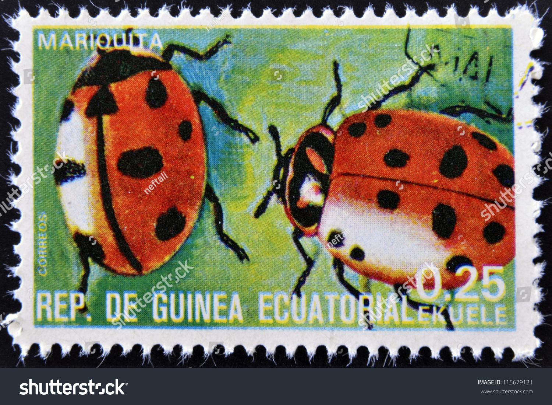 EQUATORIAL GUINEA CIRCA 1973 Stamp Printed Stock Photo Edit Now