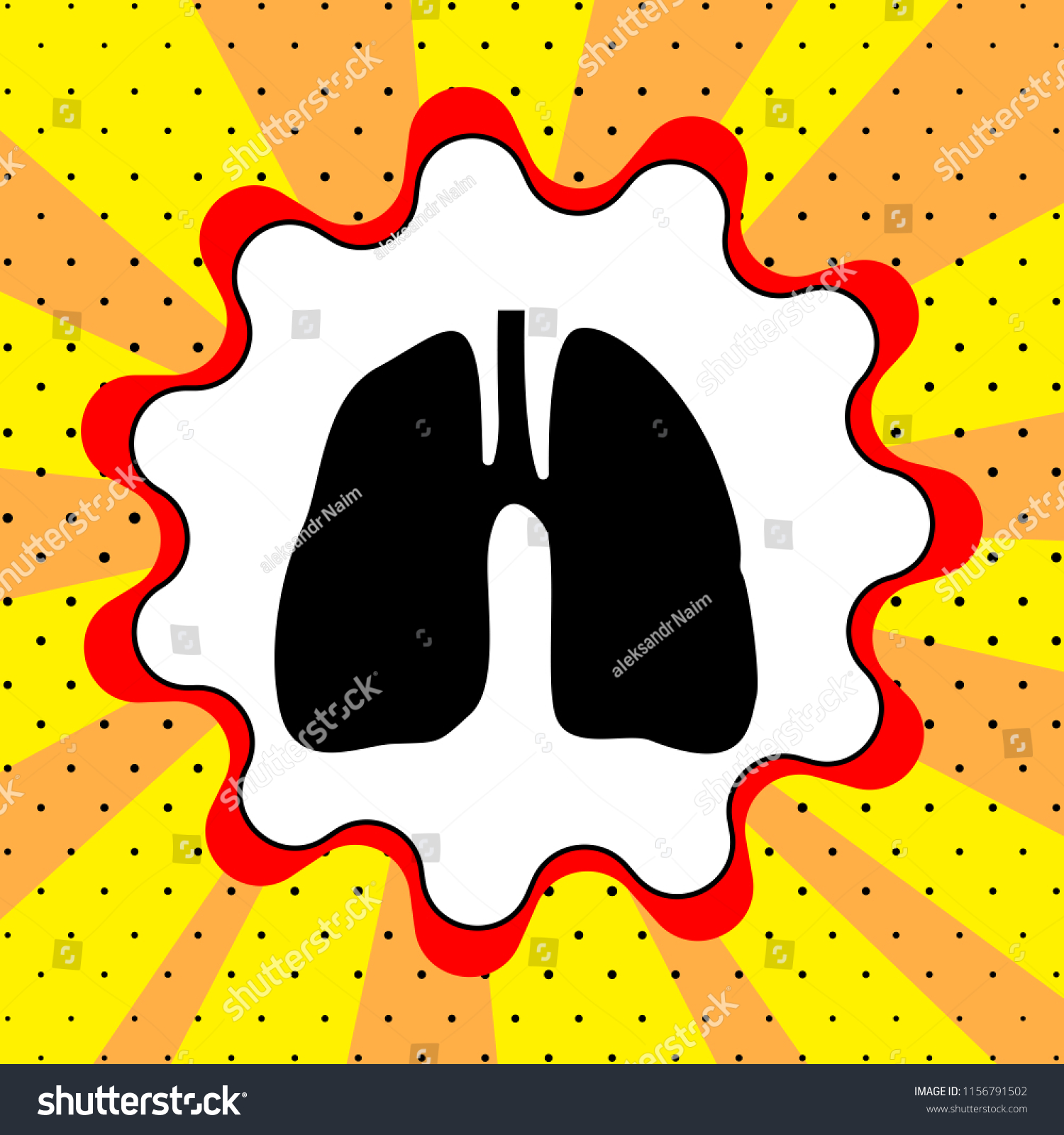 Human Anatomy Lungs Sign Black Icon Stock Vector 1156791502 ...