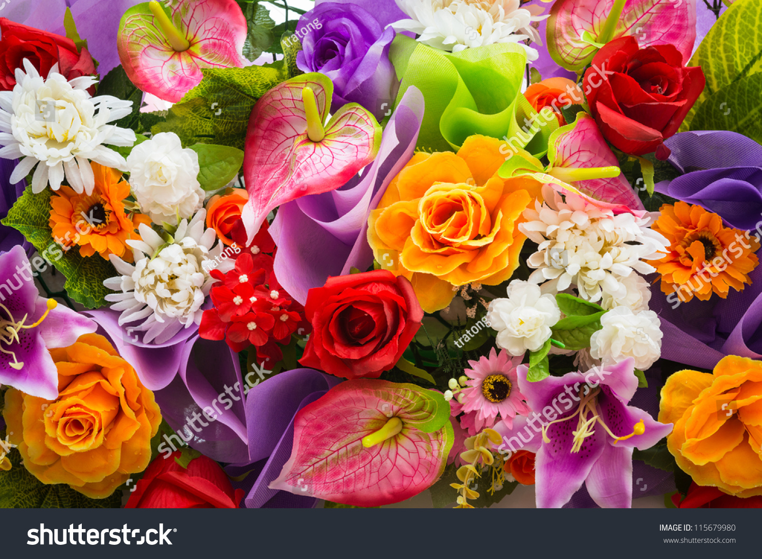 Bunch Flowers Stock Photo Edit Now 115679980 Shutterstock