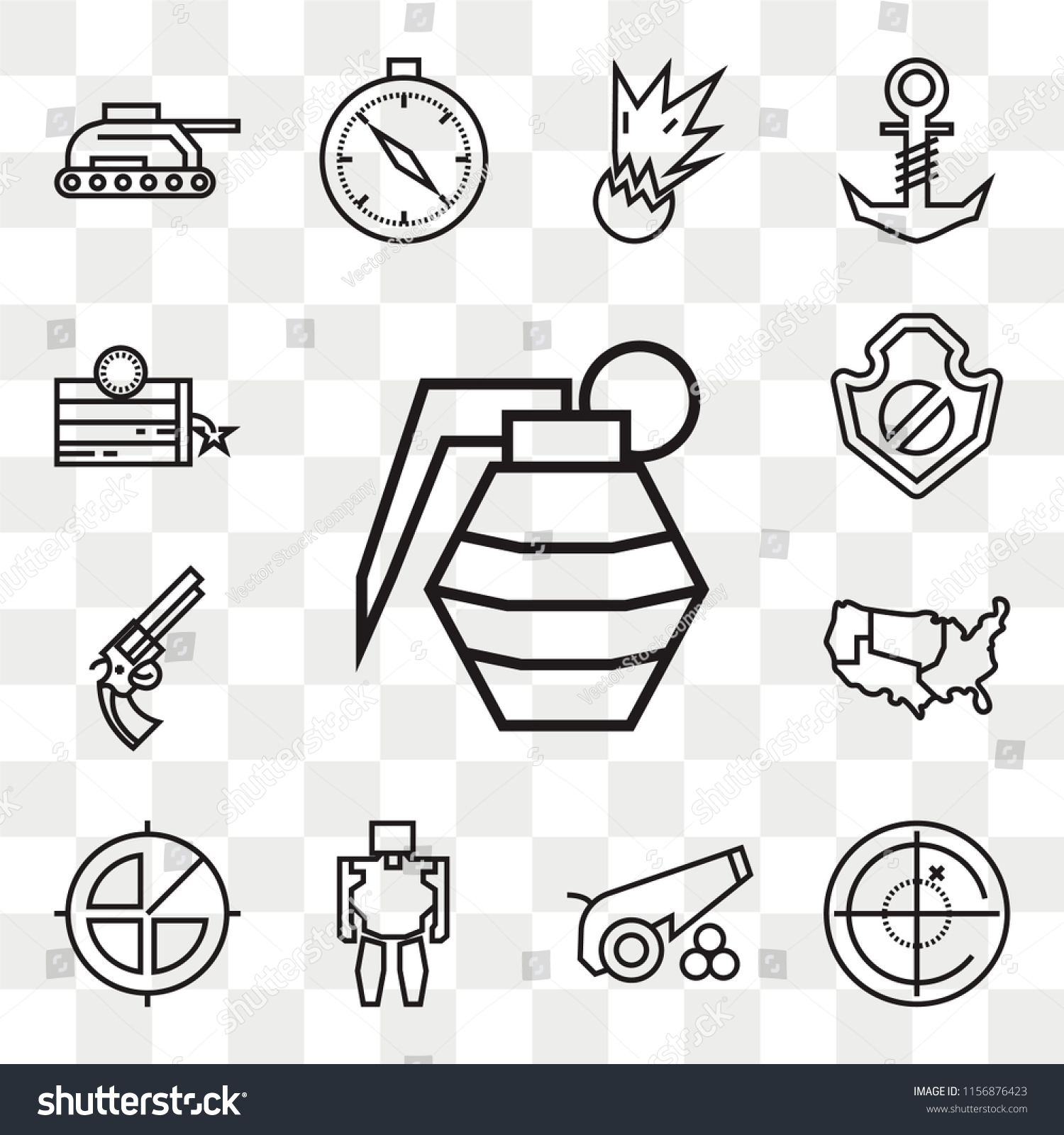 Set 13 Transparent Editable Icons Such Stock Vector Royalty Free