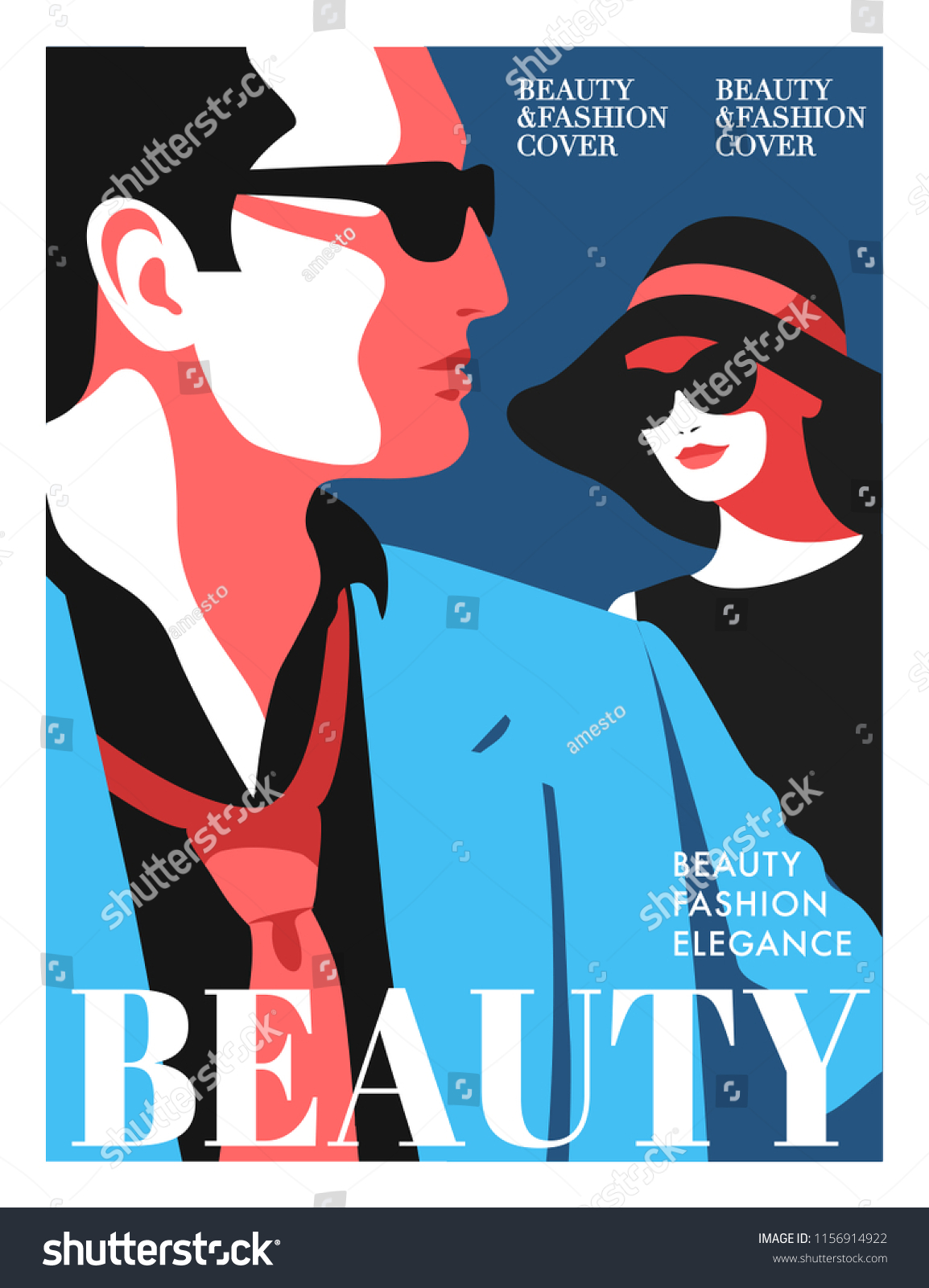 Women Fashion Magazine Cover Design Abstract Stock Vector Royalty Free 1156914922
