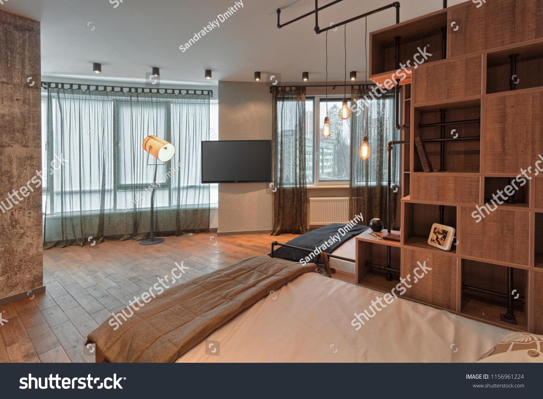 Kiev ukraine april 23 2018 new construction modern home interior with model furniture