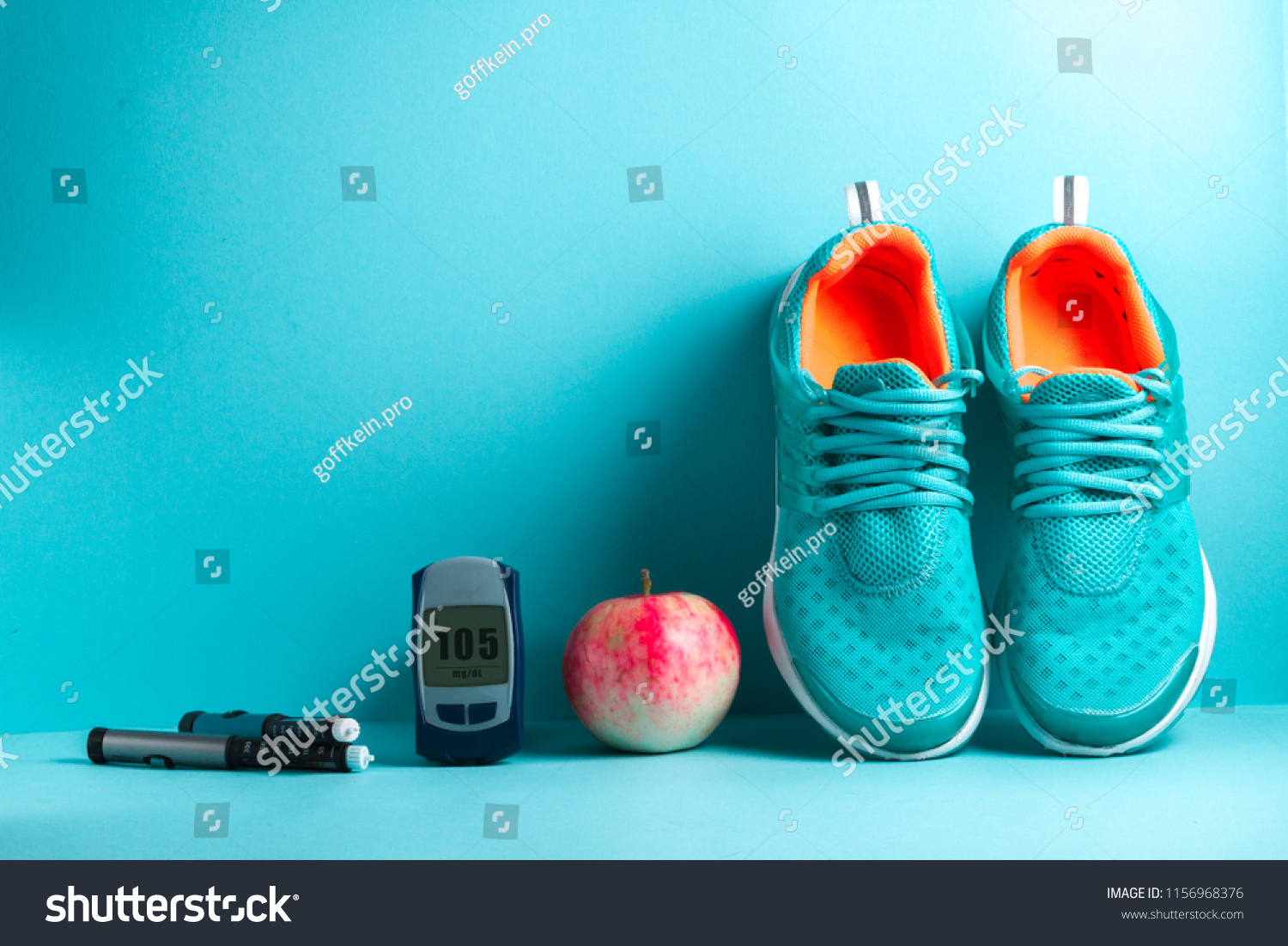 Concept of a healthy diabetic. Diabetes. Sports diabetic. Sport. Sports life of a diabetes patient.  #1156968376
