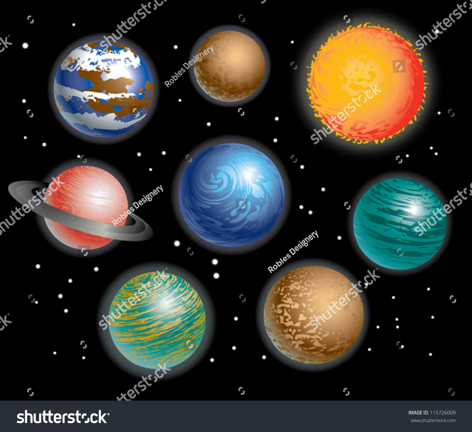 color of our planets - photo #17