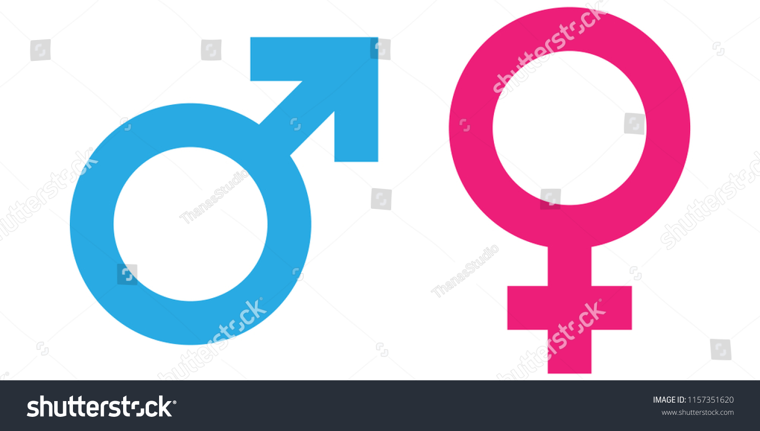 Gender Symbol Pink Blue Vectormale Femaleboy Stock Vector Royalty
