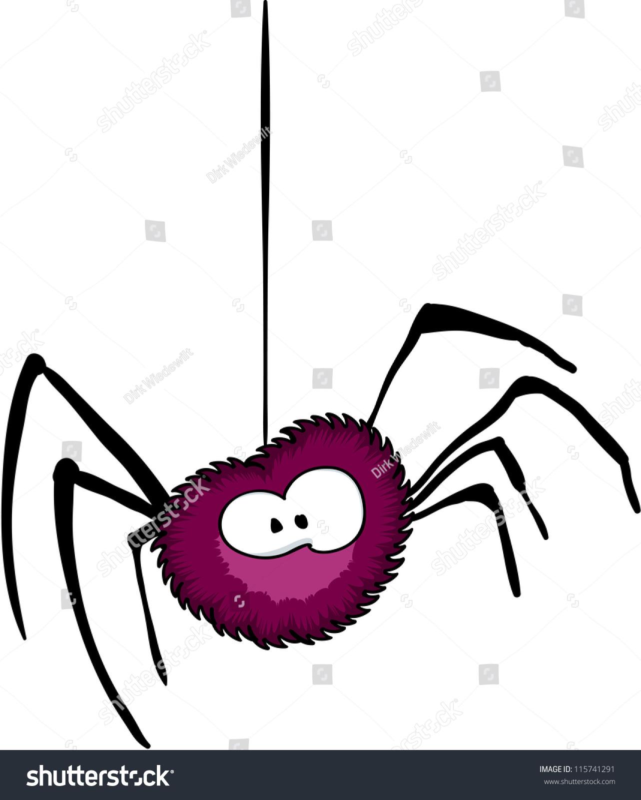 Halloween Spider Stock Vector 115741291 - Shutterstock