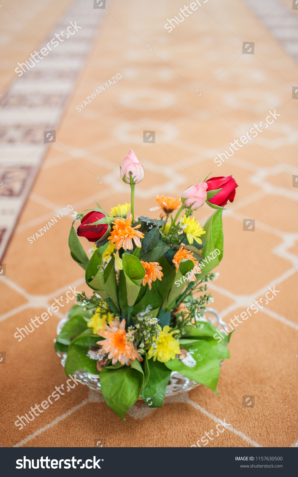 Flowers Sireh Leaves Made Gift Malay Stock Photo Edit Now