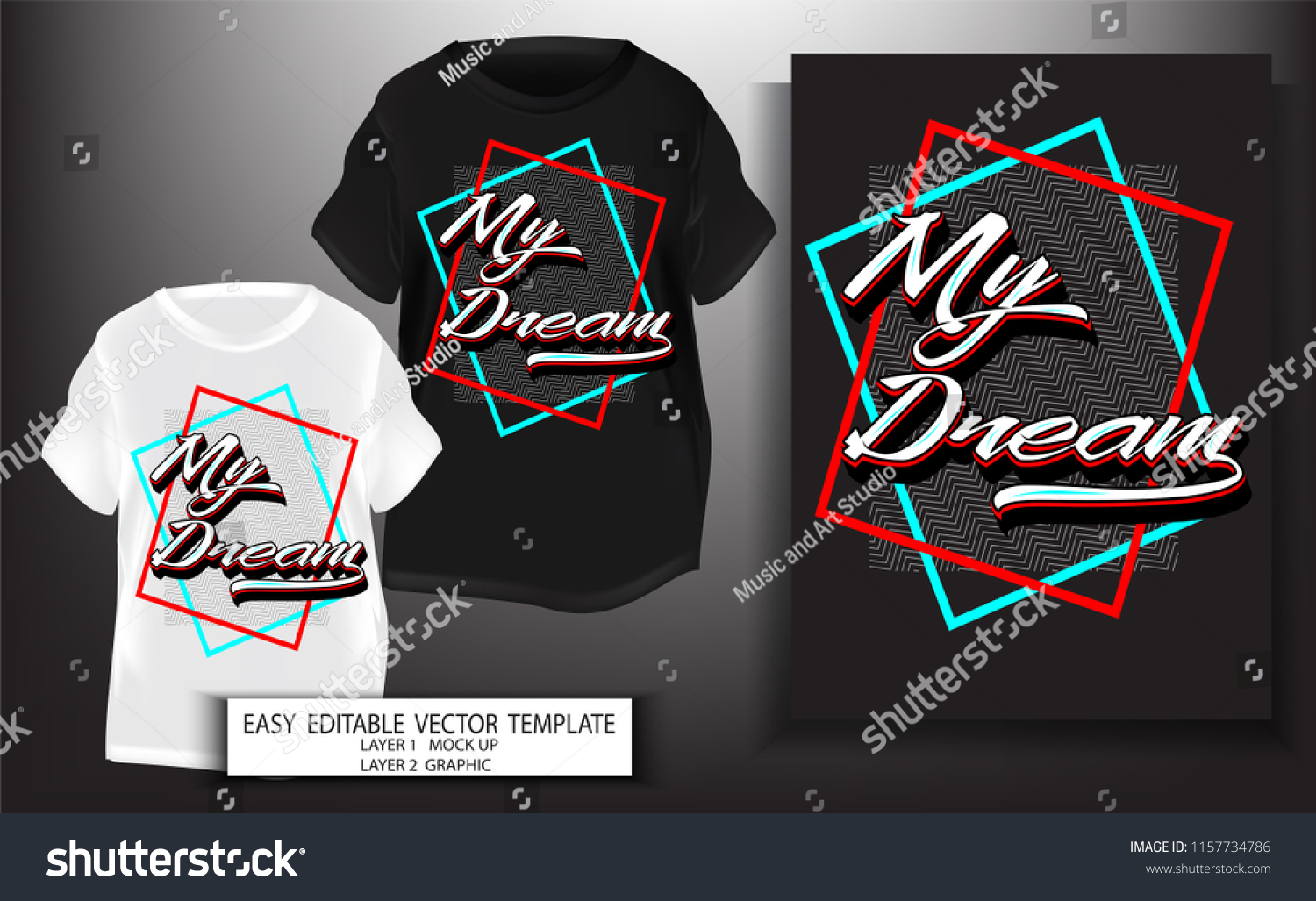 d749f5810 typography slogan with My Dream.T shirt design.Graphic for print or screen  block