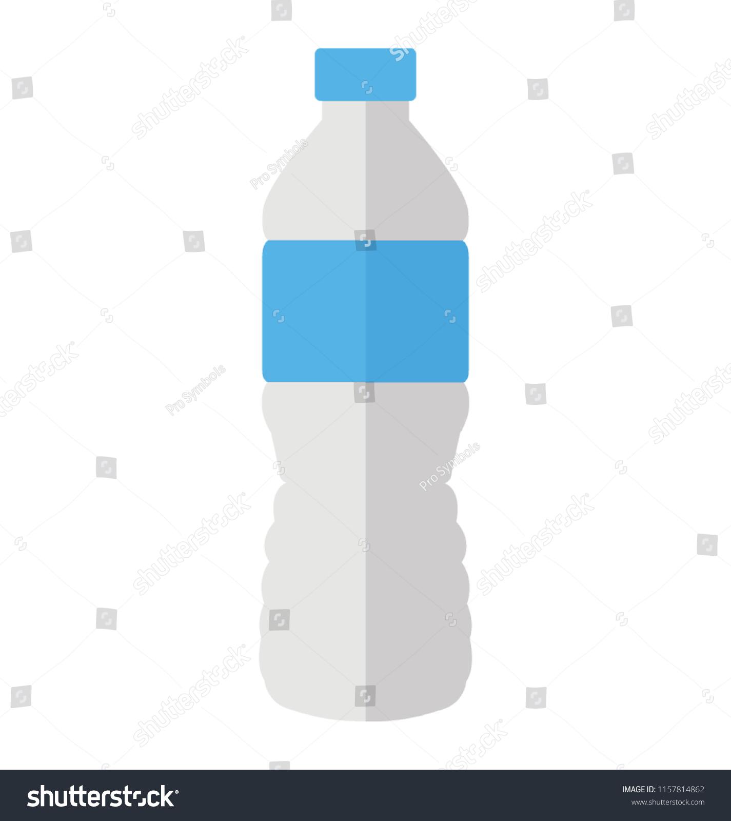 Plastic Bottle Label Lid Depicting Mineral Stock Vector Royalty