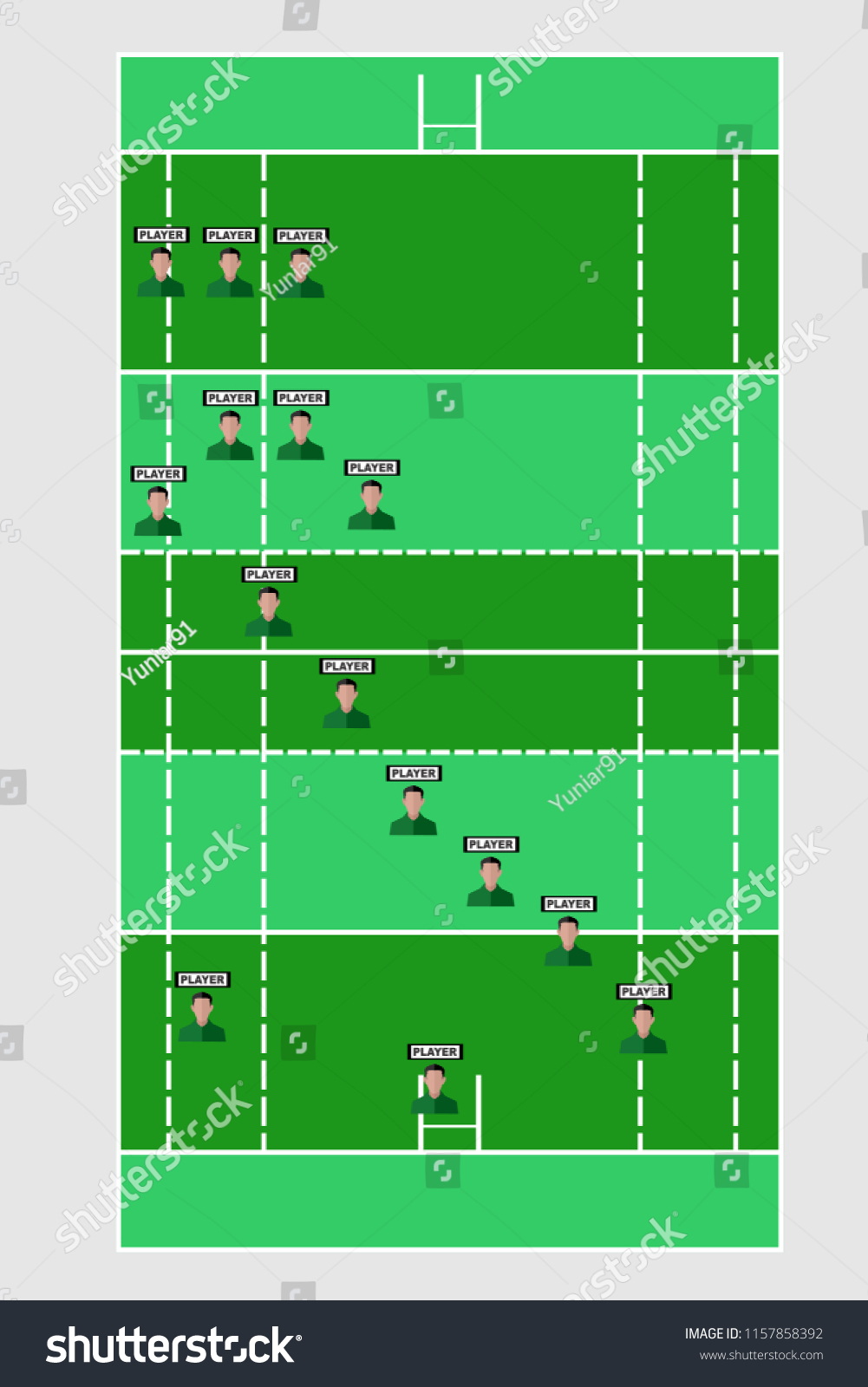 Rugby Formation Vector Illustration Broadcast Graphic Stock Vector Royalty Free 1157858392