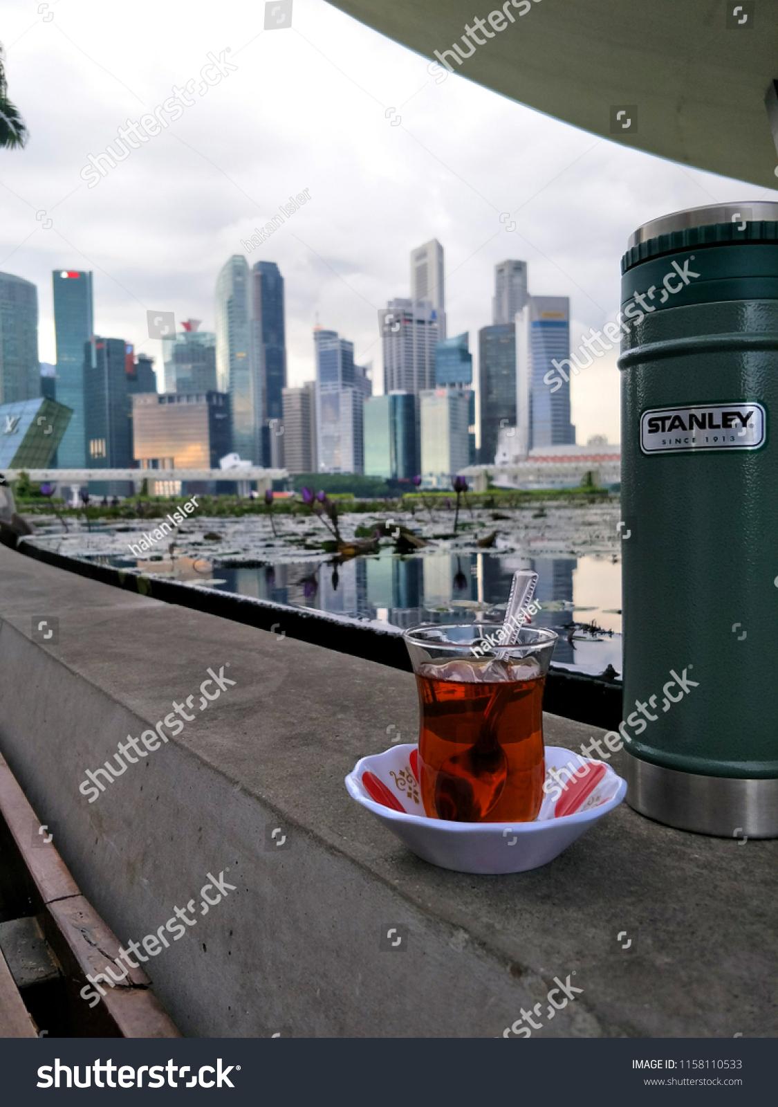 Turkish Tea Stanley Thermos Bottle City Stock Photo (Edit